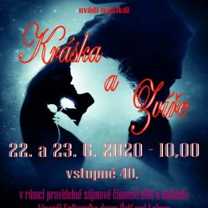 Kráska a Zvíře - 22. a 23. 6. 2020 10,00 - plakát
