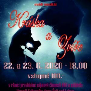 Kráska a Zvíře - 22. a 23. 6. 2020 18,00- plakát